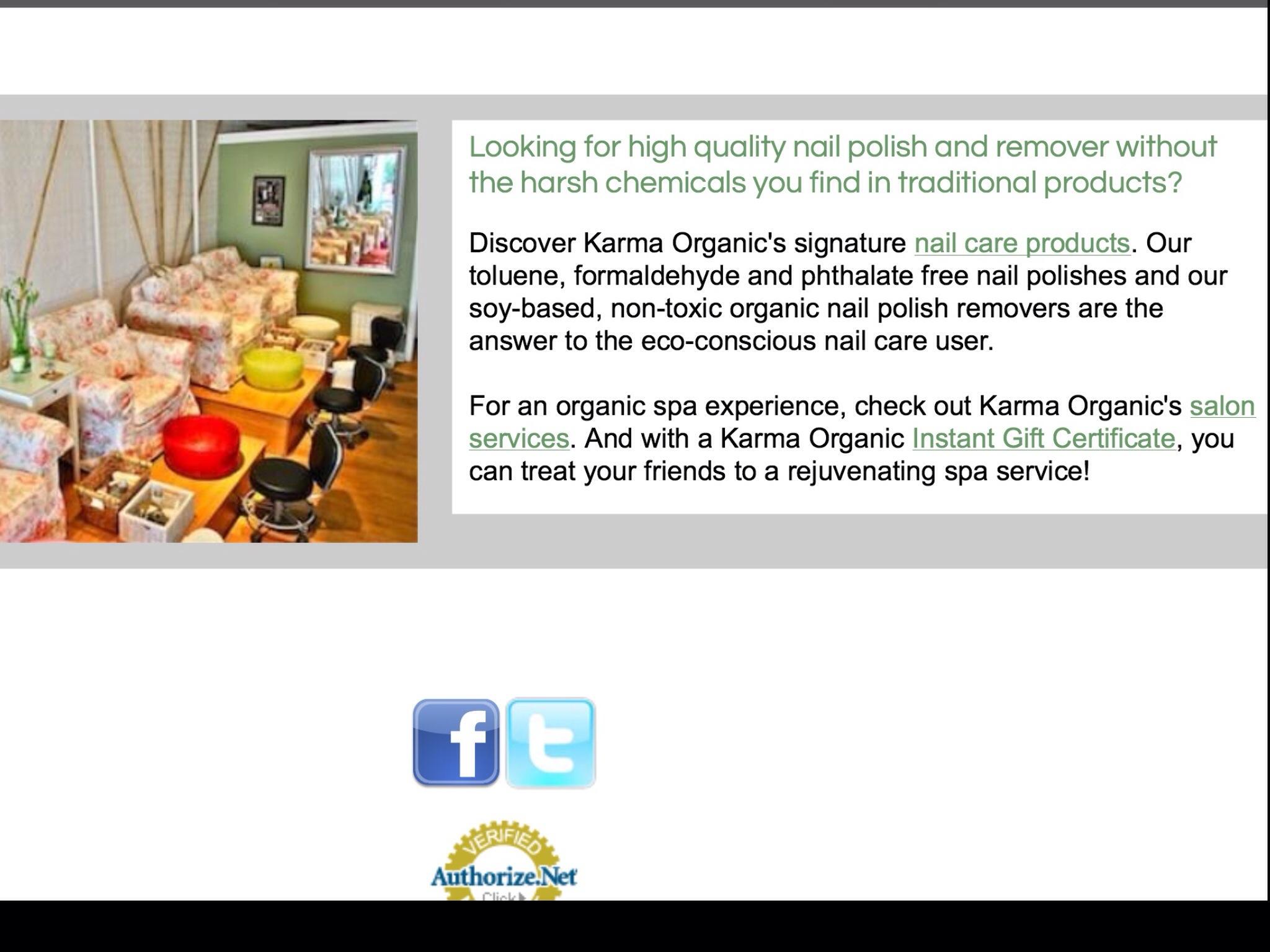 Beautiful Karma Organic Spa Nail Polish Embellishment - Nail Art ...